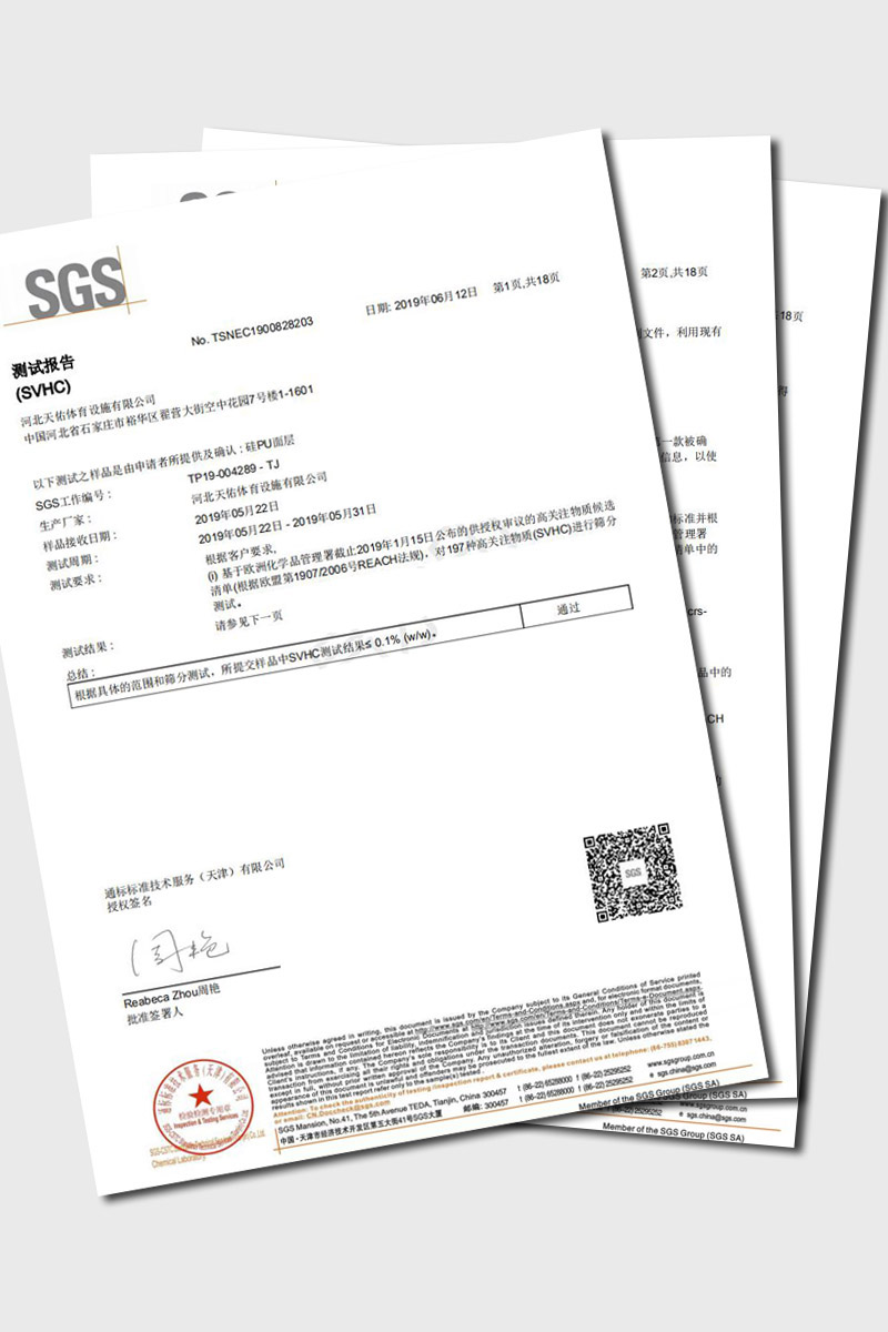 SGS Test Report of Silicon Polyurethane court